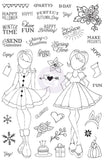 Prima Marketing - Julie Nutting Planner Clear Stamps 4 inch X6 inch Holiday Bliss