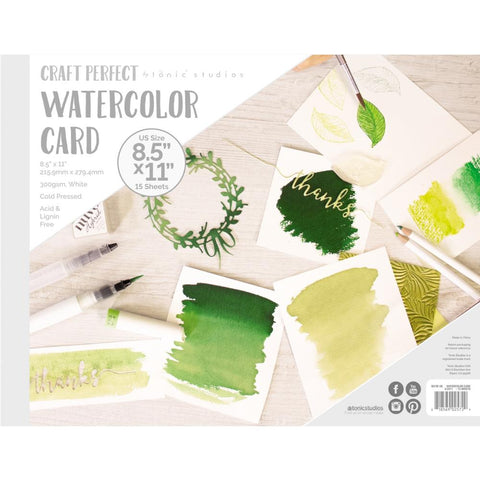Tonic Studios - Craft Perfect - Watercolour Pads - 8.5inches x 11inches