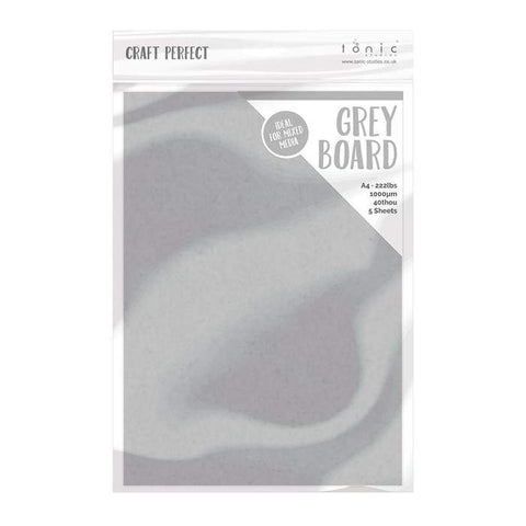 Tonic Studios - Craft Perfect Greyboard A4 (5/PK)