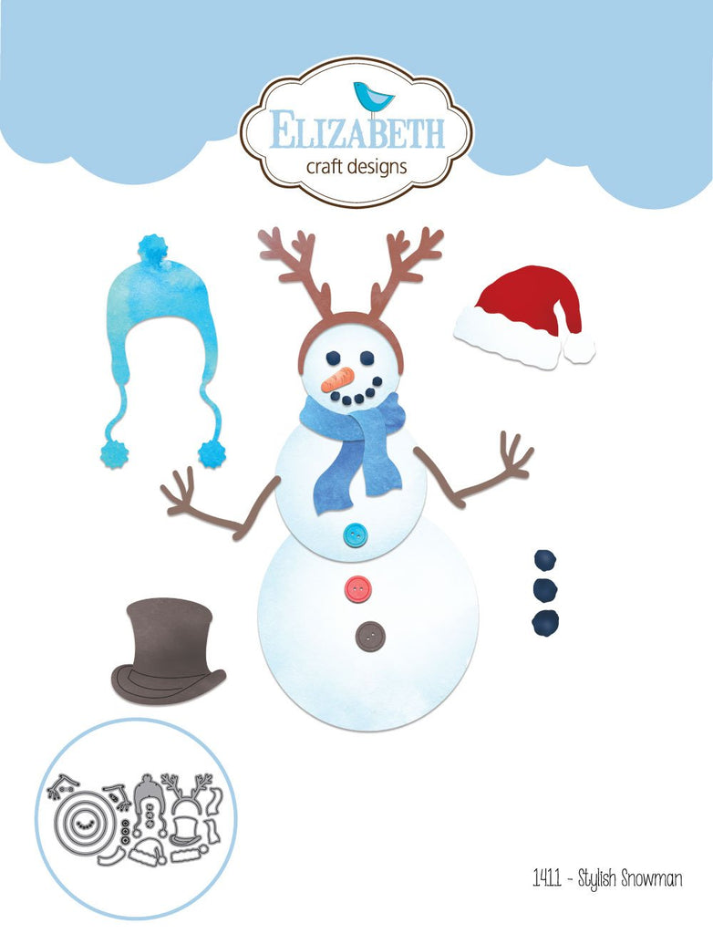 Elizabeth Craft Metal Die Stylish Snowman