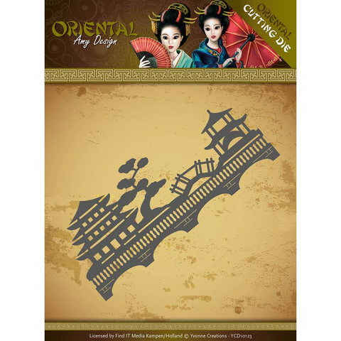 Find It Trading Amy Design Oriental Die Chinese Landscape