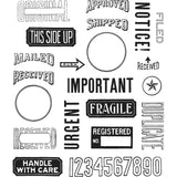 Tim Holtz Cling Stamps 7 inch X8.5 inch  - Mail Art.