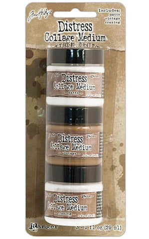 Tim Holtz Distress Collage Mini Mediums  - Vintage Matte & Crazing