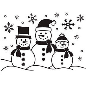Darice - Embossing Essentials - Snowman Family