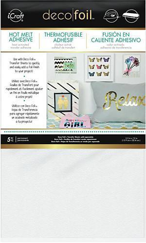 Thermoweb - Deco Foil Iron-On Adhesive Transfer Sheet 5.5 Inch X12 Inch  5 Pack