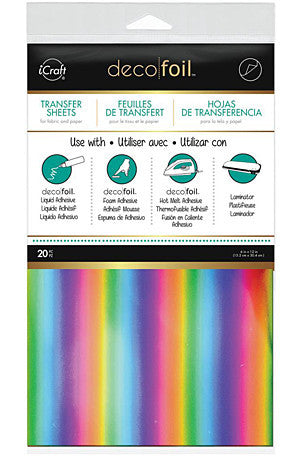 Deco Foil 6 Inch X12 Inch  20 Pack  Rainbow