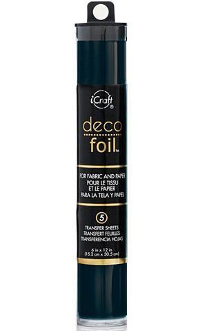 Thermoweb Deco Foil 6 Inch X12 Inch  5 Pack  Black