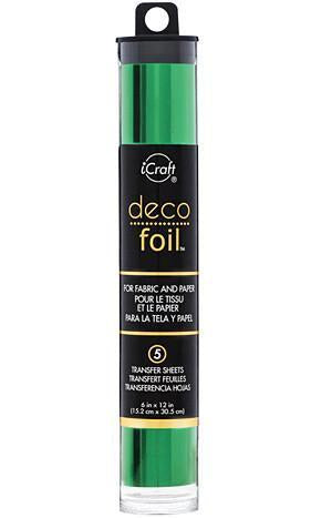 Thermoweb  - Deco Foil 6 Inch X12 Inch  5 Pack  Green