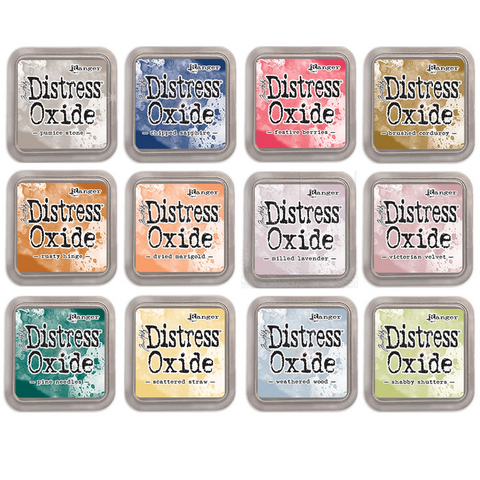 Tim Holtz Distress Oxides Ink Pad - New colors 12 SET