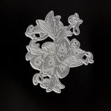 Poppy Crafts Dies - Ornate Floral Die Design with 4 Flowers