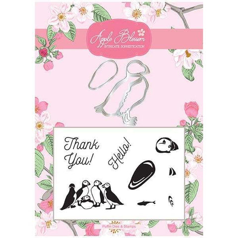 Apple Blossom Birds of a Feather Collection - Puffin Die & Stamp Set