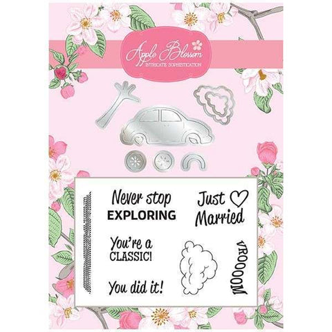 Apple Blossom Build It Collection - Car Die & Stamp Set