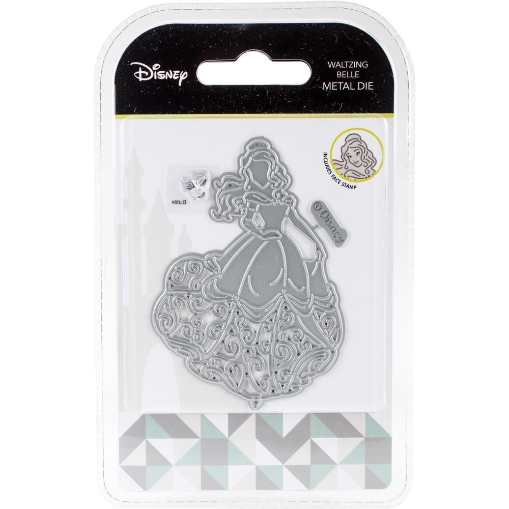 Disney Beauty And The Beast Die And Face Stamp Set Waltzing Belle