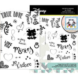 Disney Mickey & Minnie Mouse Stamp Set