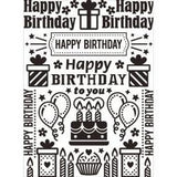 Darice - Embossing Folder 4.25 Darice - Embossing Folder 4.25In. X5.75In. Birthday Collage