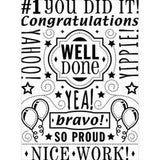 Darice - Embossing Folder 4.25 Darice - Embossing Folder 4.25In. X5.75In. Congrats Collage