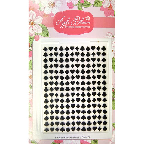 Apple Blossom Embossing Folder - A6 Card Suit Embossing Folder