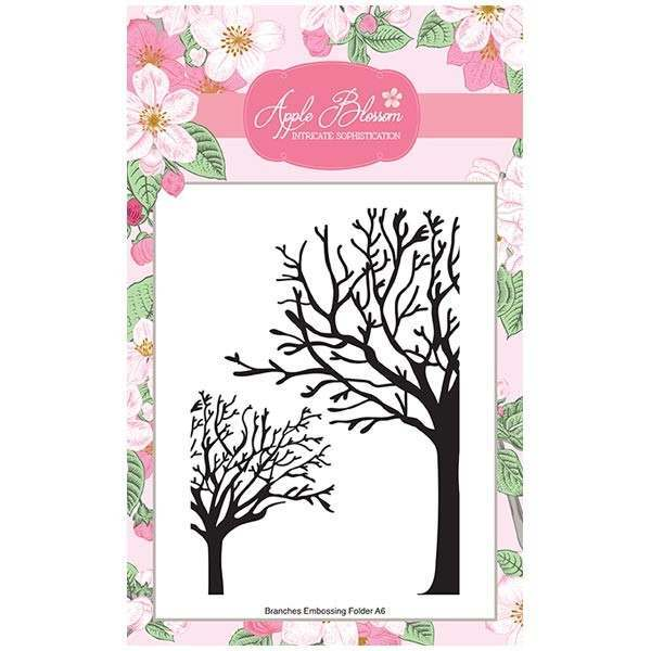 Apple Blossom Birds of a Feather Collection - Branches A6 Embossing Folder