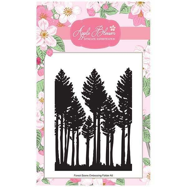 Apple Blossom Birds of a Feather Collection - Forest Print A6 Embossing Folder