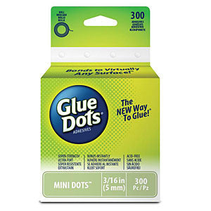 Glue Dots .1875 Mini Dot Roll 300 Clear Dots