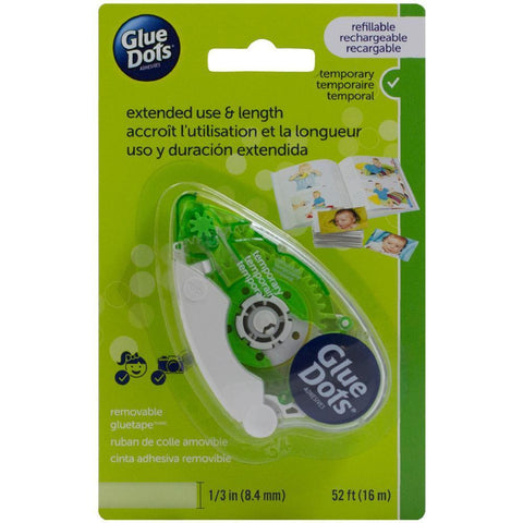 Glue Dots Tape Runner Removable .333 inch X52