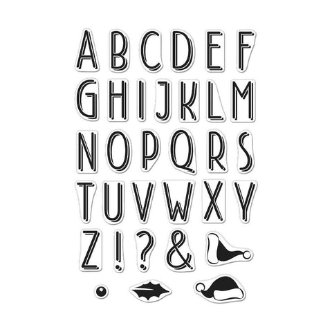 Hero Arts Clear Stamps 4in x 6in - Shadowed Letter Set