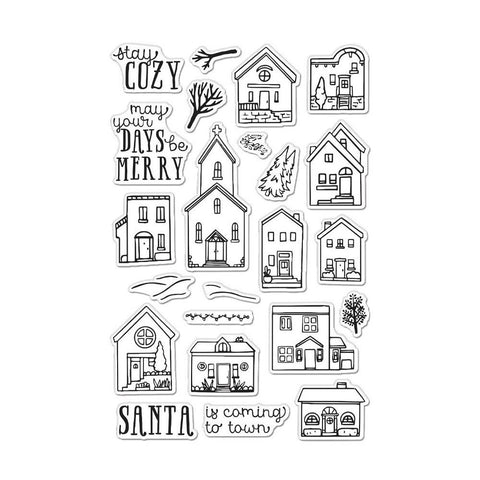 Hero Arts Clear Stamps 4in x 6in - Cozy Town