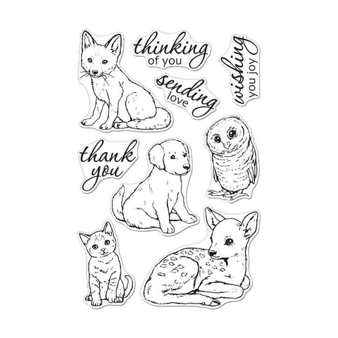 Hero Arts Clear Stamps 4in x 6in - Fawn & Friends