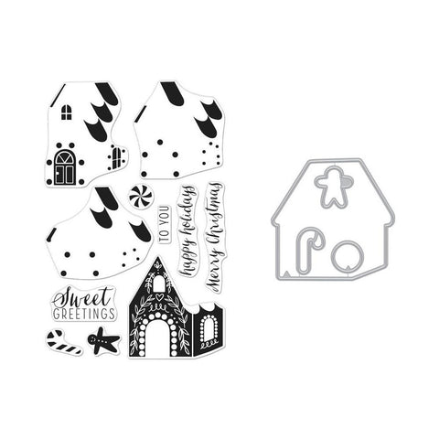 Hero Arts Clear Stamp & Die Combo - Colour Layering Gingerbread House