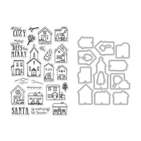 Hero Arts Clear Stamp & Die Combo - Cozy Town