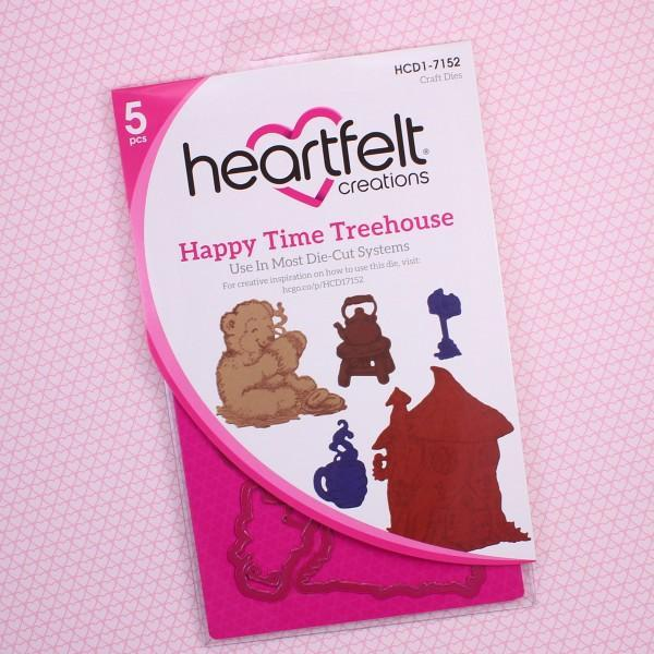 Heartfelt Creations Cut & Emboss Dies Beary Fun Retreat-Happy Time Treehouse