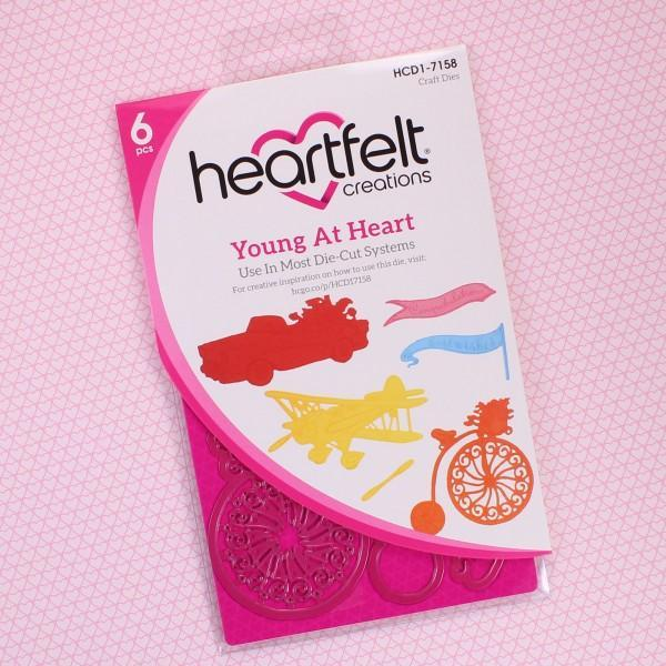 Heartfelt Creations Cut & Emboss Dies Young At Heart 2.75 To 4