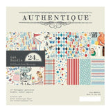 Authentique Double-Sided Cardstock Pad 6in x 6in  24 pack  Hooray