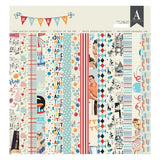 Authentique Double-Sided Cardstock Pad 12in x 12in  18 pack  Hooray