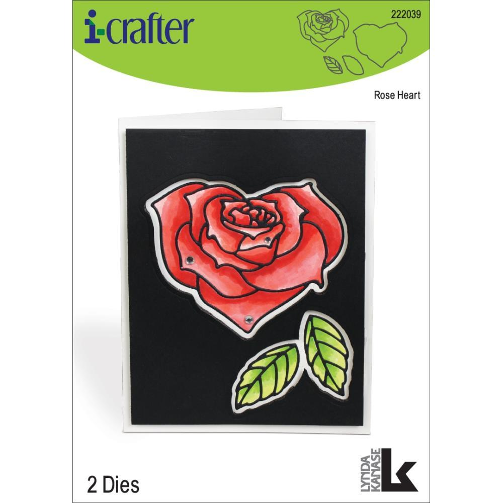 i-crafter Dies - Rose Heart