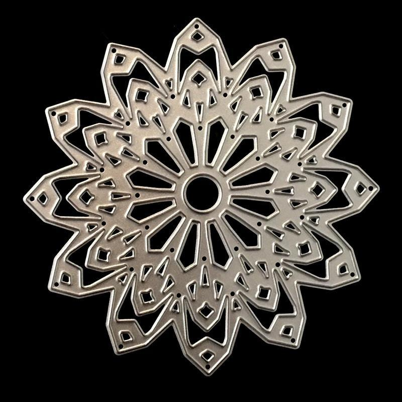 PoppyCrafts Cutting Die - Ornate Flower Die Design #8