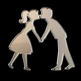 PoppyCrafts Cutting Die - Kissing Couple Die Design