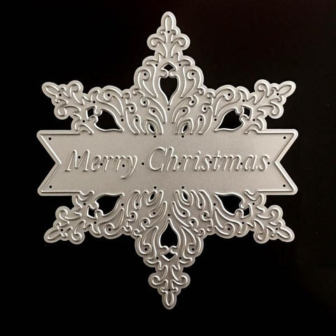 Poppy Crafts Dies - Merry Christmas Flower Die Design