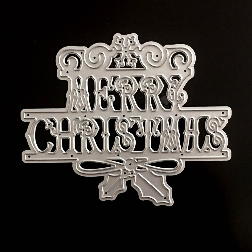 Poppy Crafts Dies - Merry Christmas Script Die Design