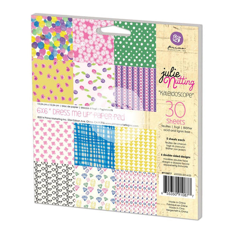 Prima Marketing Double-Sided Paper Pad 6 inch X6 inch  30 pack  Julie Nutting Kaleidoscope, 6 Des/5 Ea