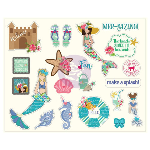Julie Nutting Ephenera Cardstock Die-Cuts 42 pack Mermaid Kisses 24 Designs/2 Each