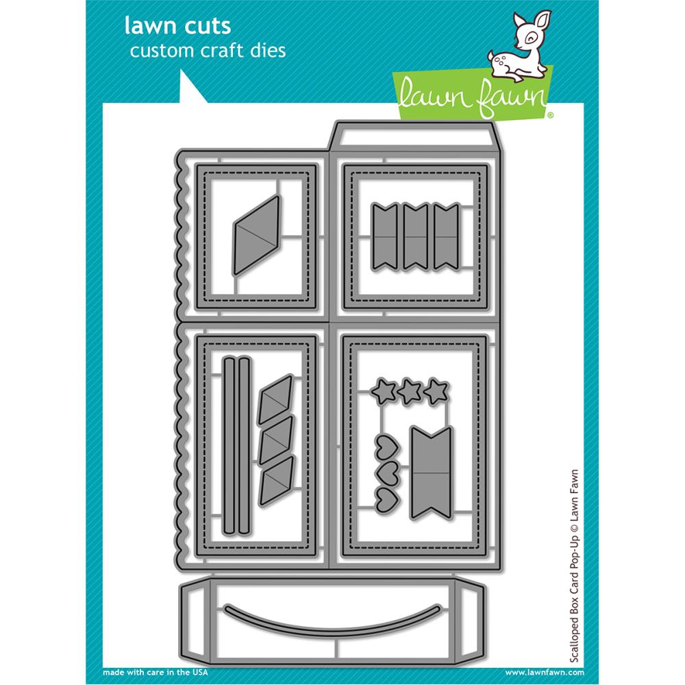 Lawn Cuts Custom Craft Die Scalloped Box Card Pop-Up