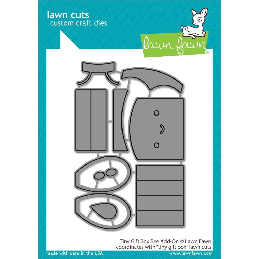 Lawn Cuts Custom Craft Die - Tiny Gift Box Bee Add-On