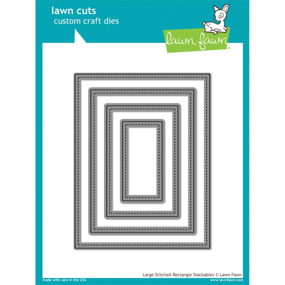 Lawn Cuts Custom Craft Die Large Stitched Rectangle