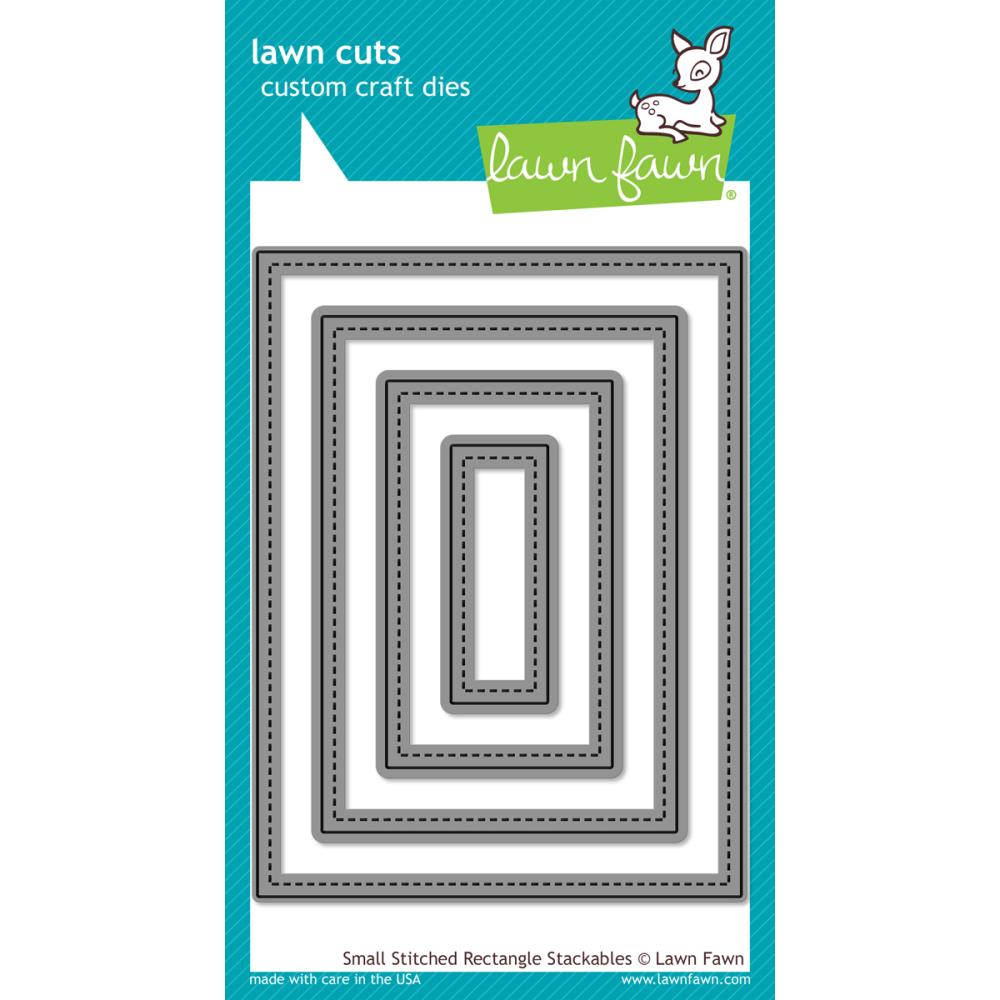 Lawn Cuts Custom Craft Die Small Stitched Rectangle
