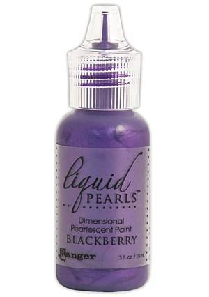 Ranger - Liquid Pearls Paint .5Oz - Blackberry