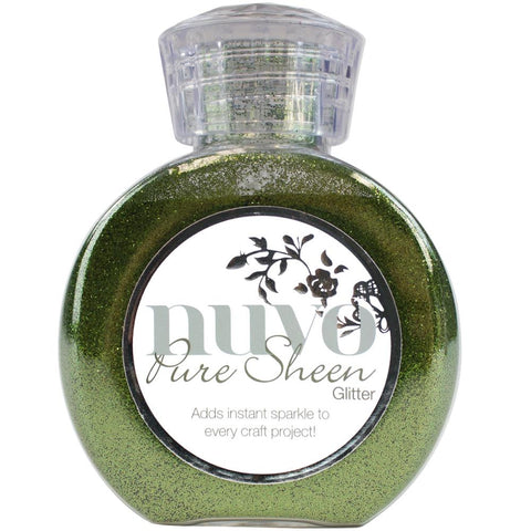 Nuvo Pure Sheen Glitter 3.38oz - Olive Green