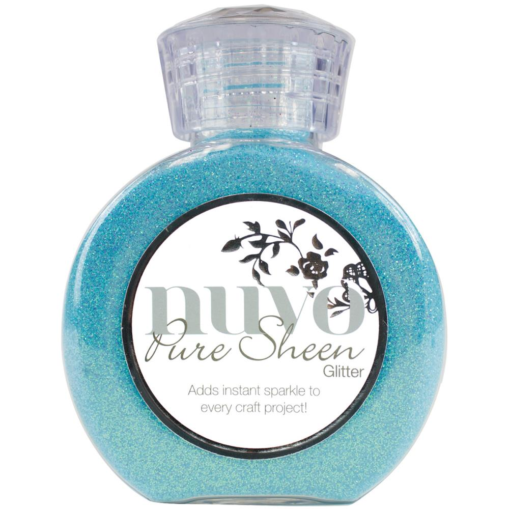 Nuvo Pure Sheen Glitter 3.38oz - Aqua
