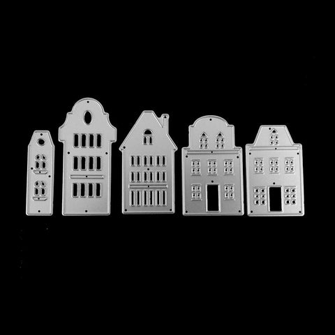 Poppy Crafts Dies - All The Houses Die Designs - Set of 5 Dies