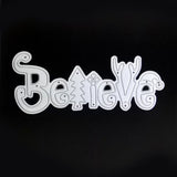 Poppy Crafts Dies - Believe Christmas Script Die